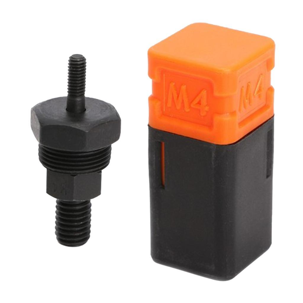 Kedelak M3 Assorted Rivet Nut Mandrel and Nose Piece Riveter Tip Metric Replacement Riveter Part Threaded Mandrel for Hand Nut Rivet