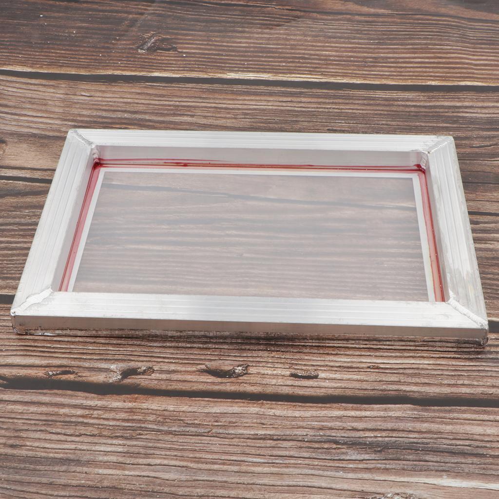 1-lot-Screen-Printing-Frame-Aluminum-Silk-Print-Polyester-Mesh-43-Mesh thumbnail 6