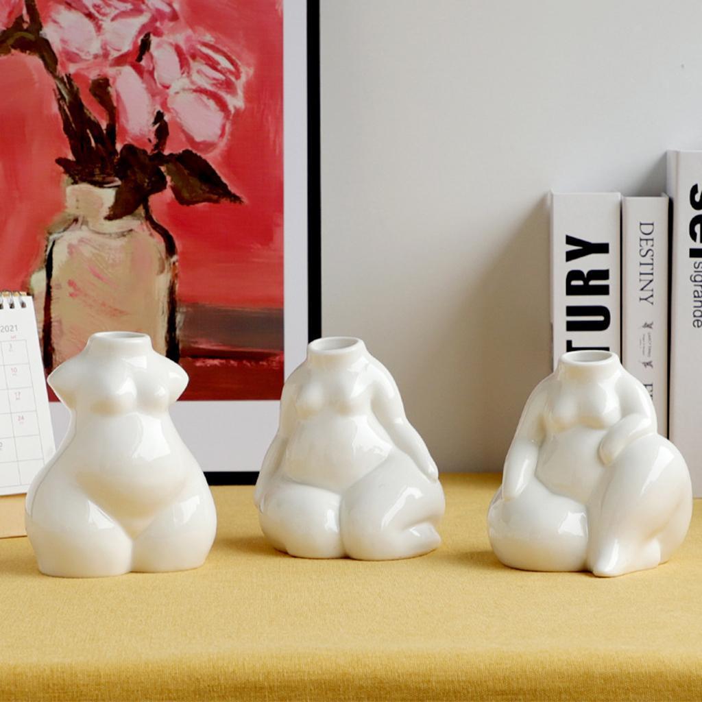 Indexbild 71 - Keramikkörper Blumenvase Blumentöpfe Nordic Boho Minimalistische