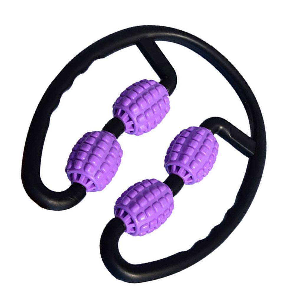 4 Wheels Roller Massager 360° Arm Leg Neck Tissue Muscle Relaxer Body Shaping