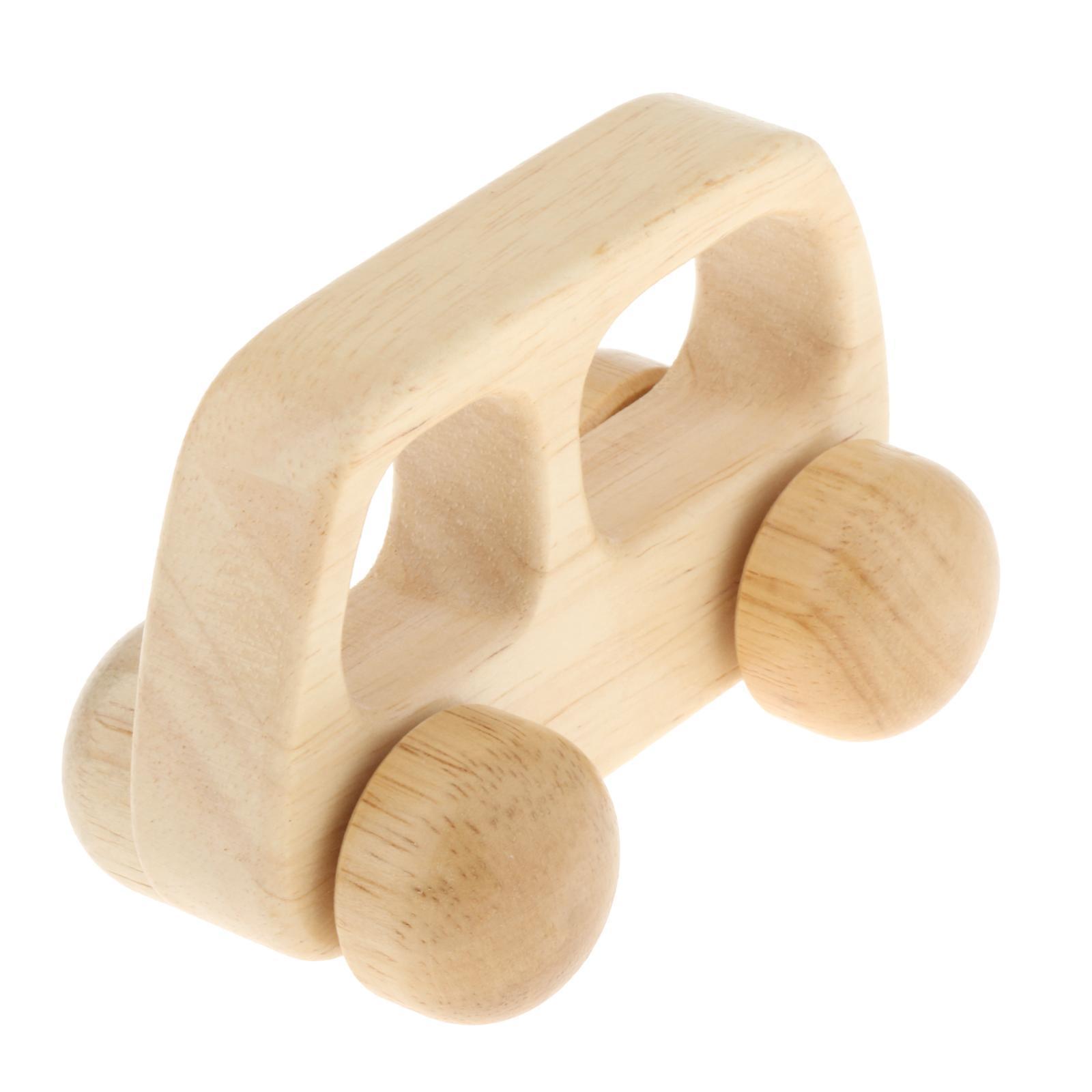 Fatti-a-mano-Giocattoli-di-Legno-Blocchi-di-Auto-Del-Fumetto-di-Attivita miniatura 4