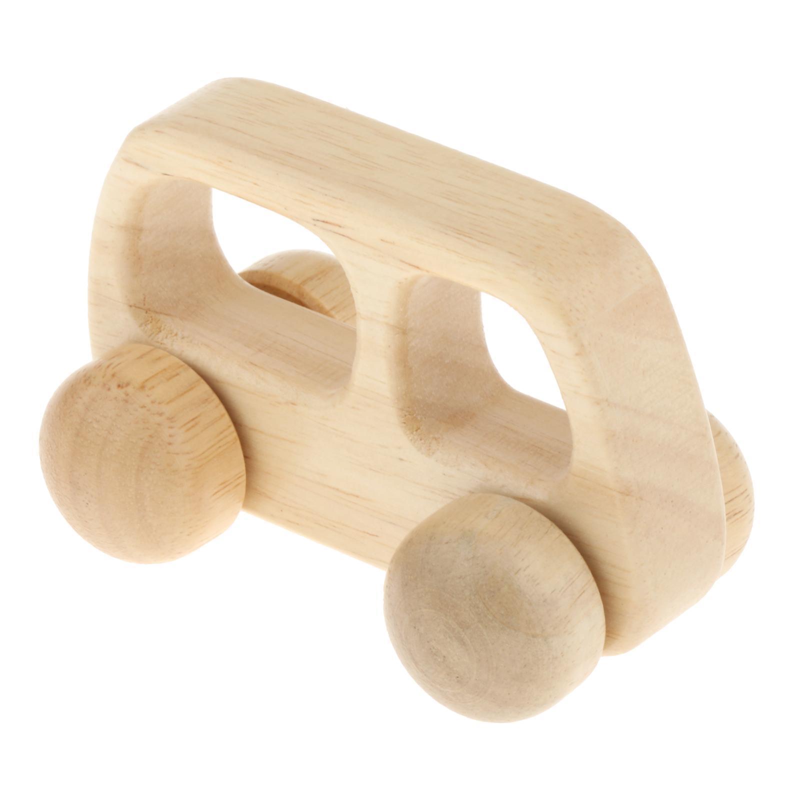 Fatti-a-mano-Giocattoli-di-Legno-Blocchi-di-Auto-Del-Fumetto-di-Attivita miniatura 5