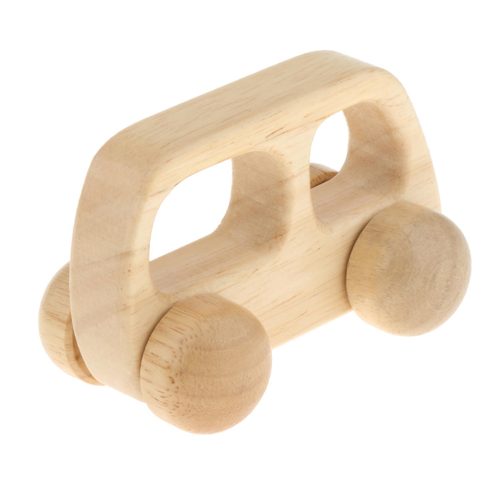 Fatti-a-mano-Giocattoli-di-Legno-Blocchi-di-Auto-Del-Fumetto-di-Attivita miniatura 6