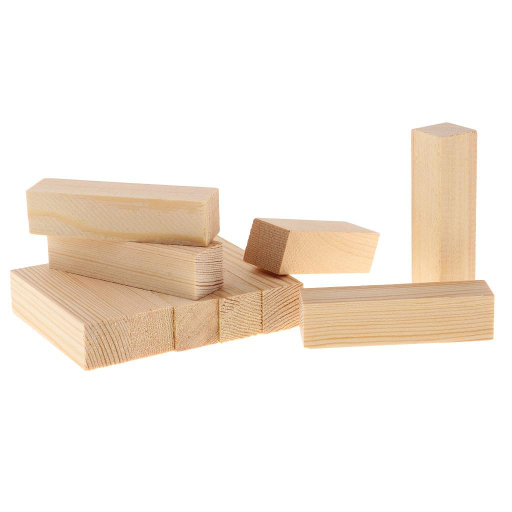 10-5x-Natural-Wood-Stick-Wooden-Block-for-Woodworking-Model-Making-Hobbies-Craft thumbnail 6