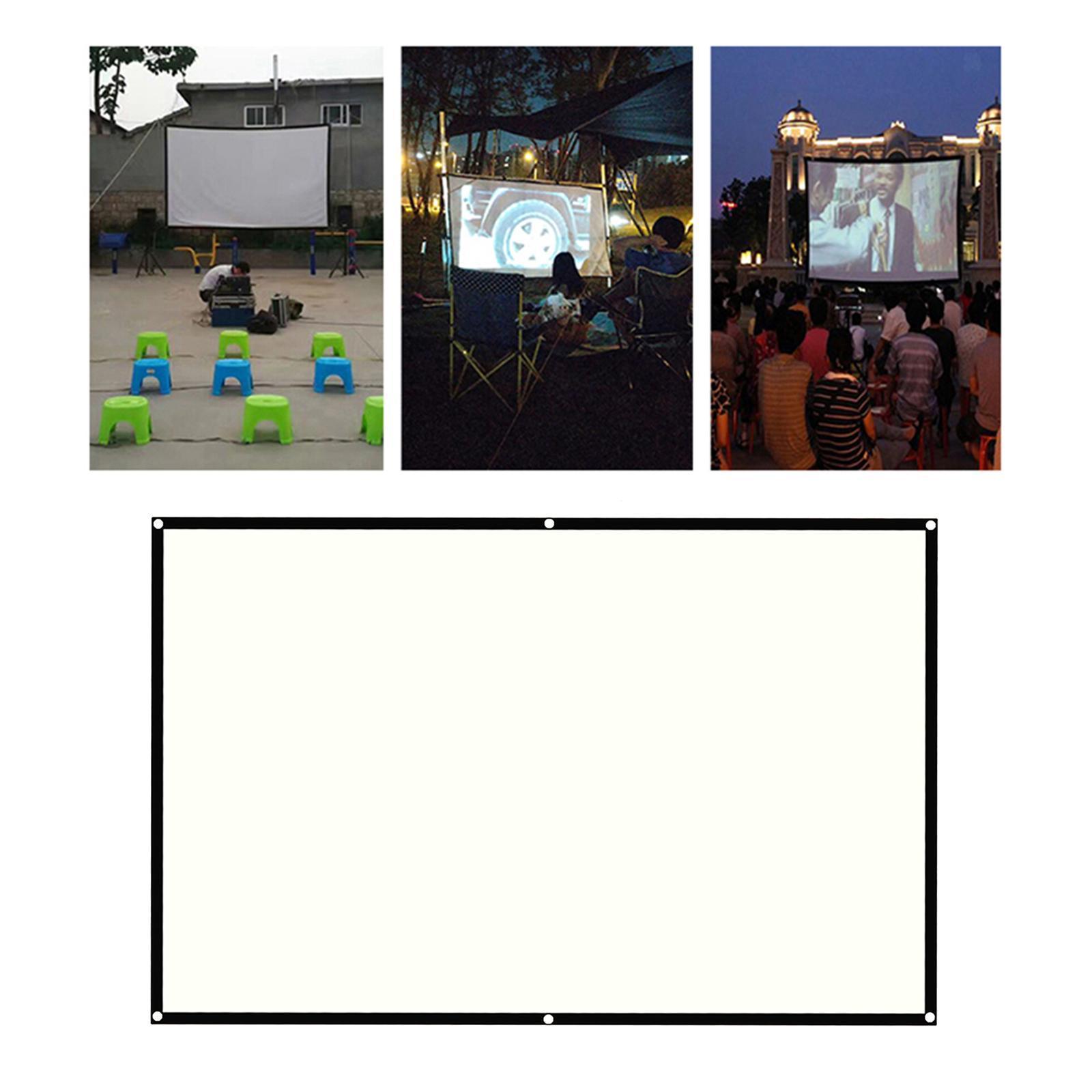 miniatura 6 - Schermo per proiettore portatile HD 16: 9 Proiezione home cinema per esterni