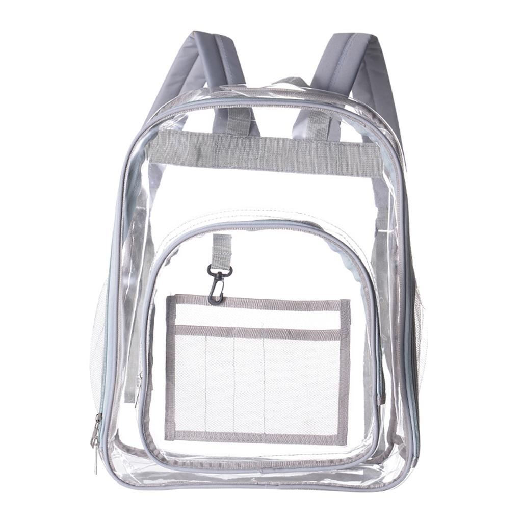 thumbnail 14 - Clear Backpack Transparent See Through School Security Heavy Duty Bookbag