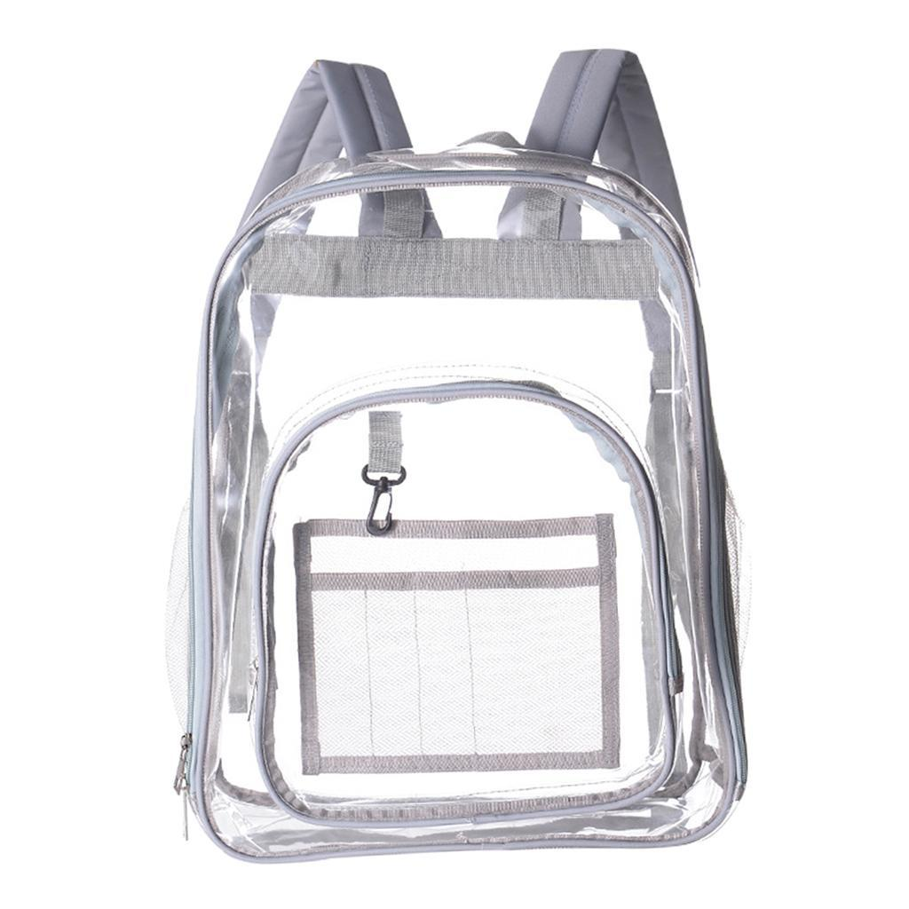 thumbnail 15 - Clear Backpack Transparent See Through School Security Heavy Duty Bookbag