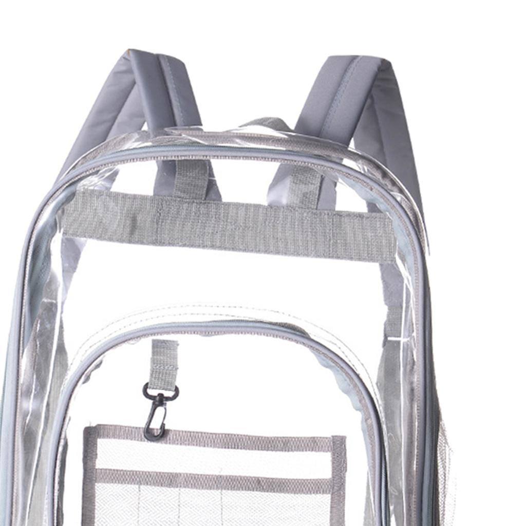 thumbnail 16 - Clear Backpack Transparent See Through School Security Heavy Duty Bookbag