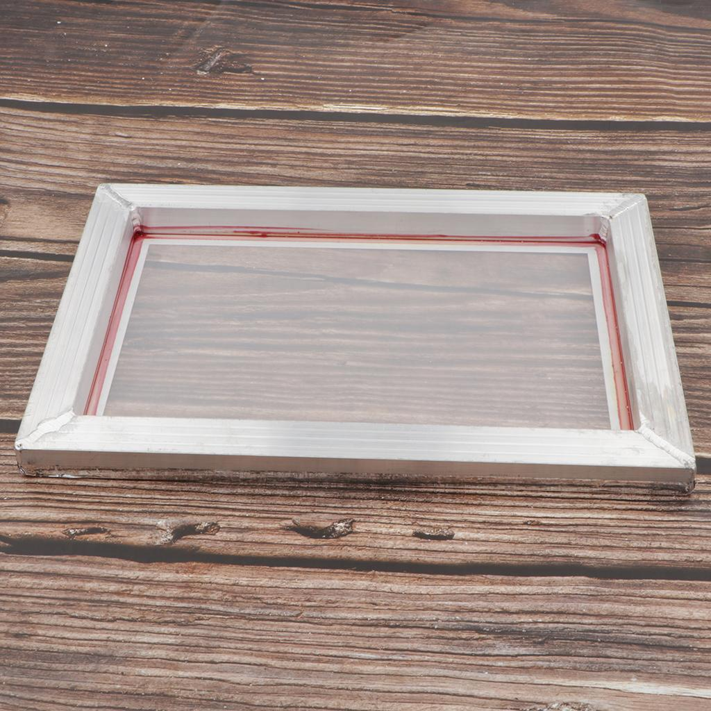 1-lot-Screen-Printing-Frame-Aluminum-Silk-Print-Polyester-Mesh-43-Mesh thumbnail 9