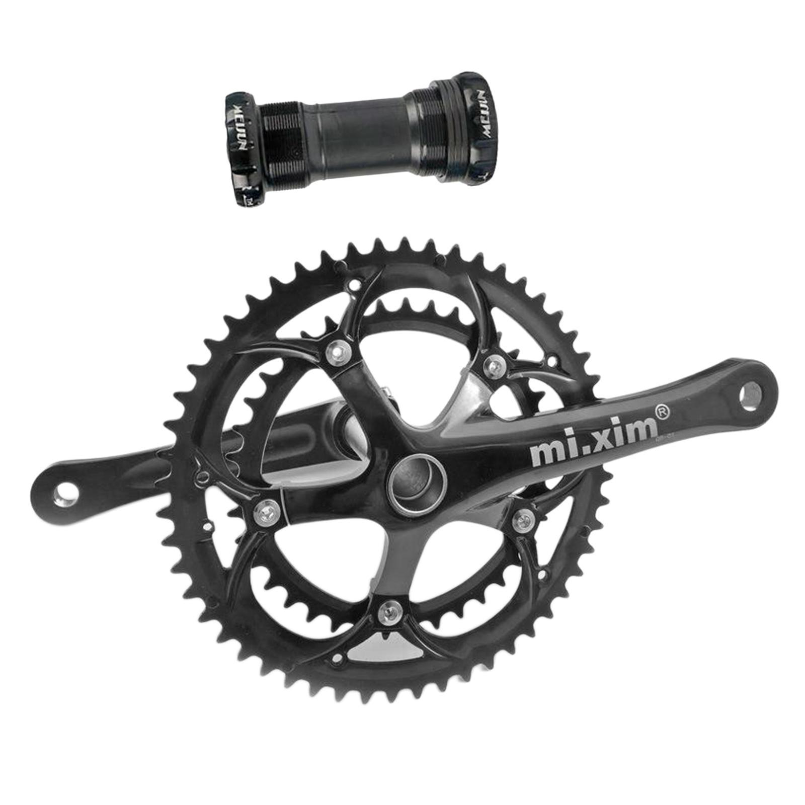 Road Bike Crankset 130BCD 170mm Crank Arm Bicycle Chainring 6-10 Speed Square BB