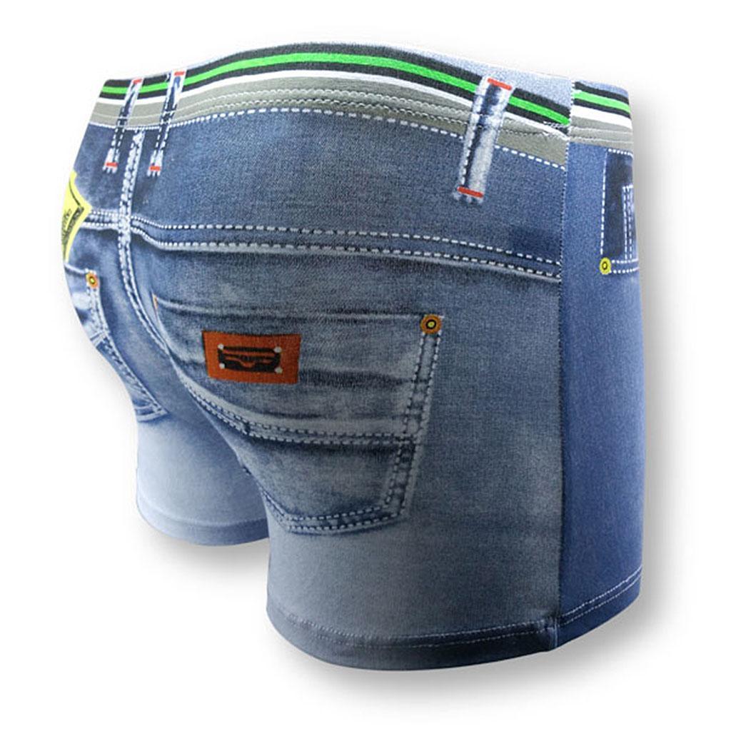 New-Men-Denim-Printing-s-Trunks-Underpants-Briefs-Shorts-Cotton-Underwear thumbnail 17