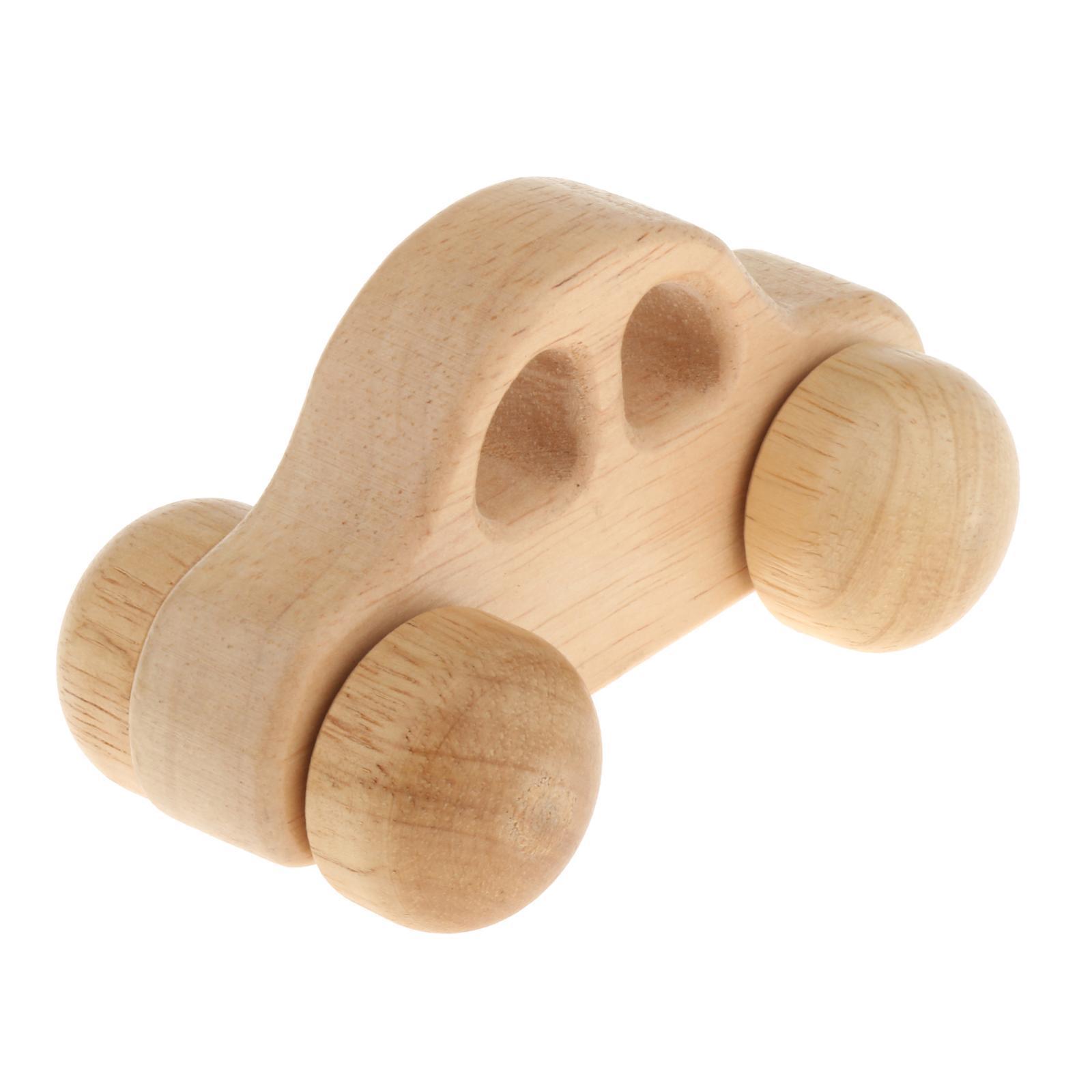Fatti-a-mano-Giocattoli-di-Legno-Blocchi-di-Auto-Del-Fumetto-di-Attivita miniatura 19