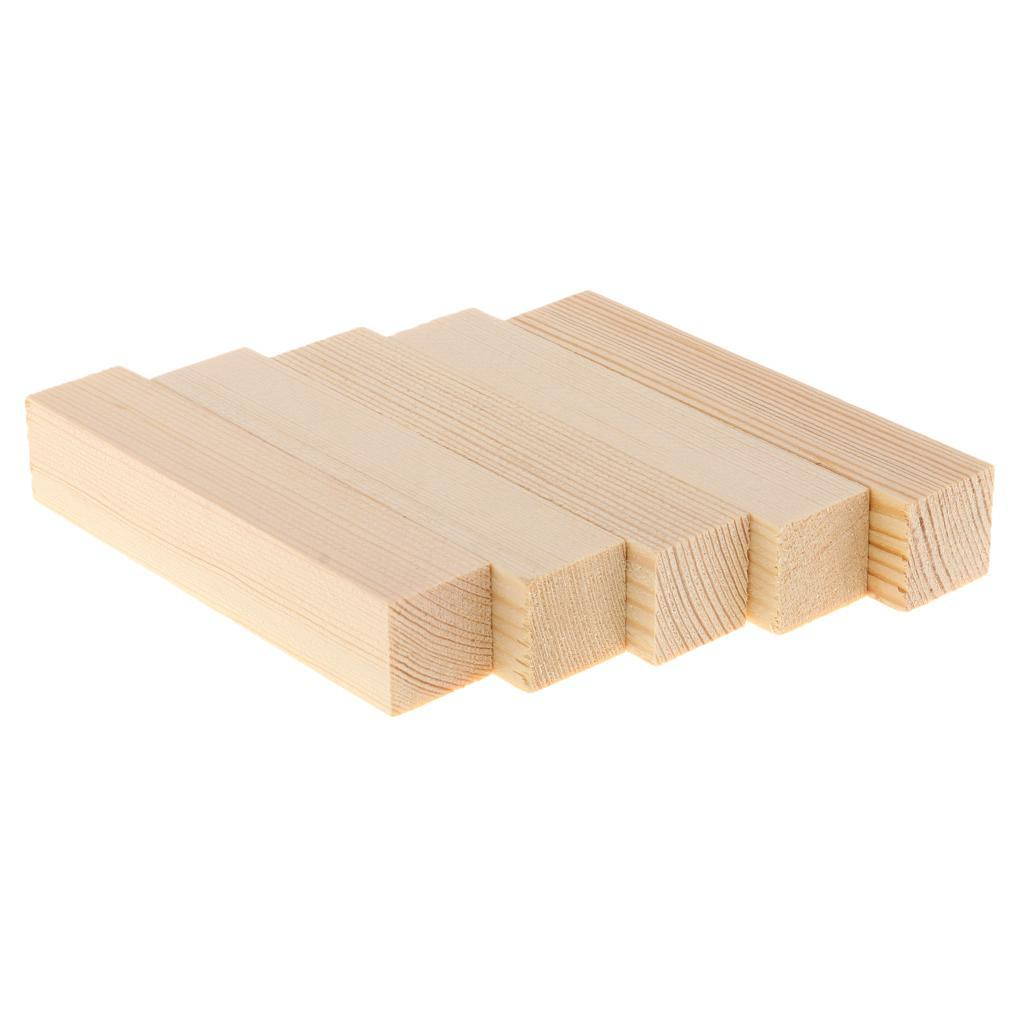 10-5x-Natural-Wood-Stick-Wooden-Block-for-Woodworking-Model-Making-Hobbies-Craft thumbnail 9