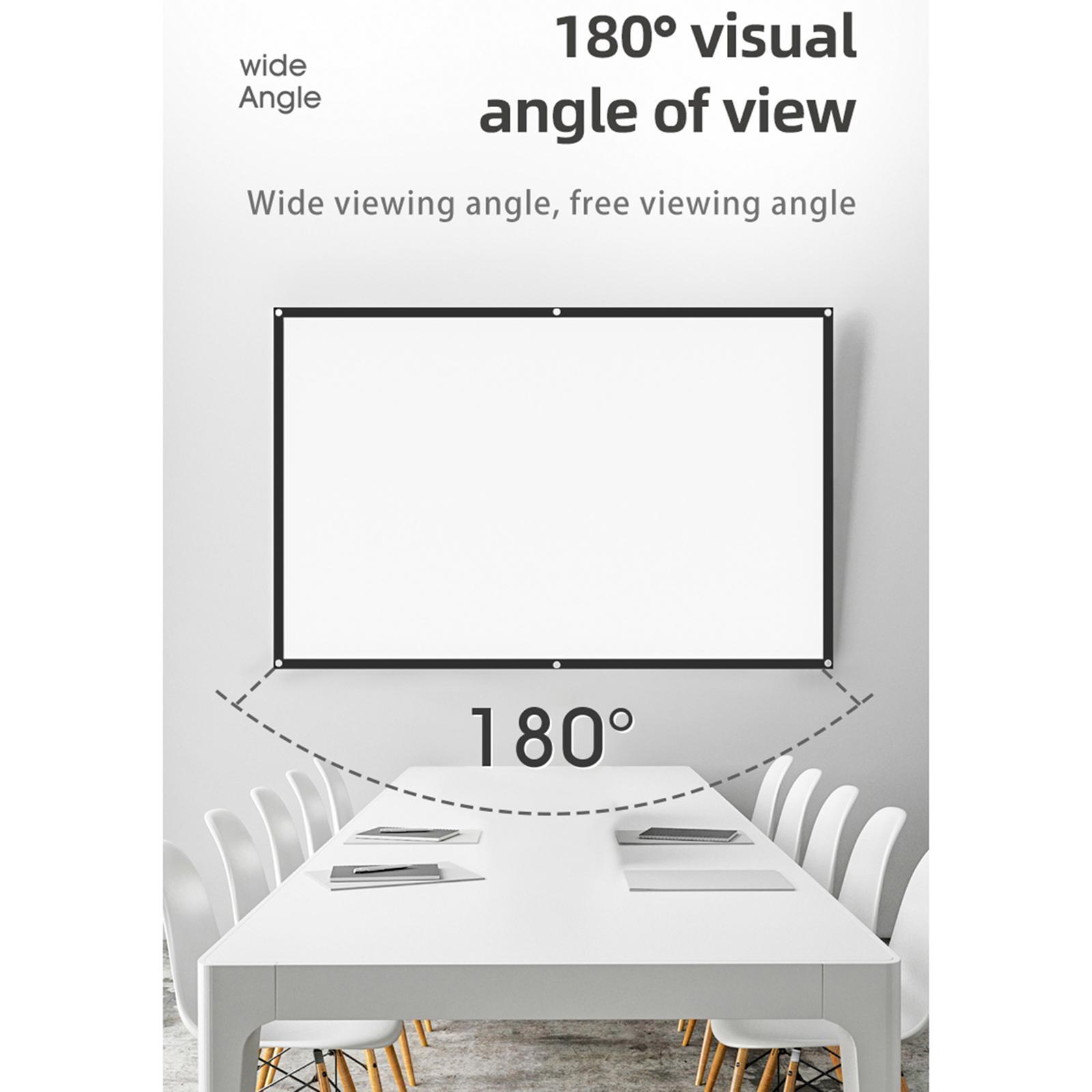 miniatura 10 - Schermo per proiettore portatile HD 16: 9 Proiezione home cinema per esterni