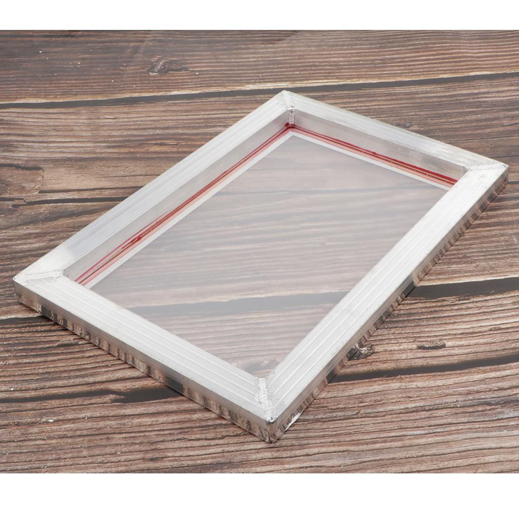 1-lot-Screen-Printing-Frame-Aluminum-Silk-Print-Polyester-Mesh-43-Mesh thumbnail 12