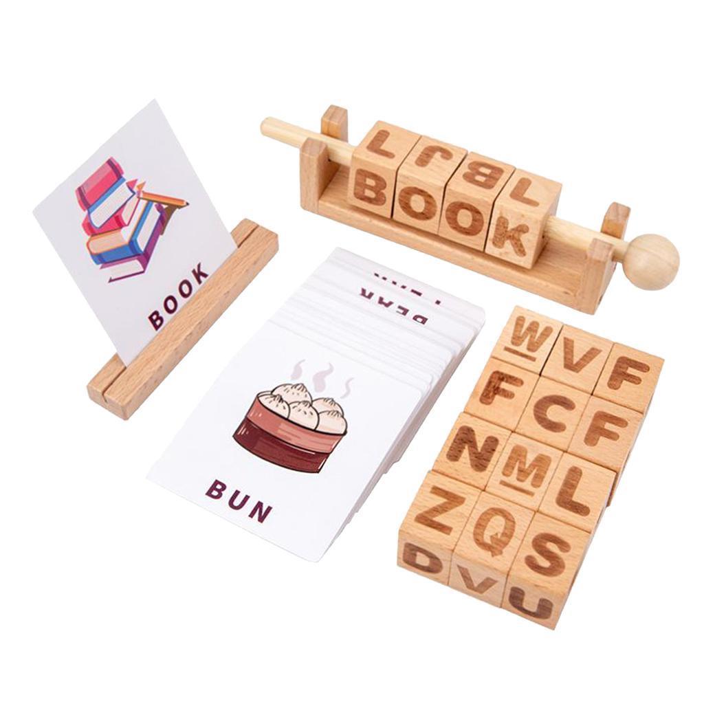 Fiammifero-di-legno-Lettera-Bambini-Blocchi-di-Costruzione-Per-Bambini-Carte-Da miniatura 6