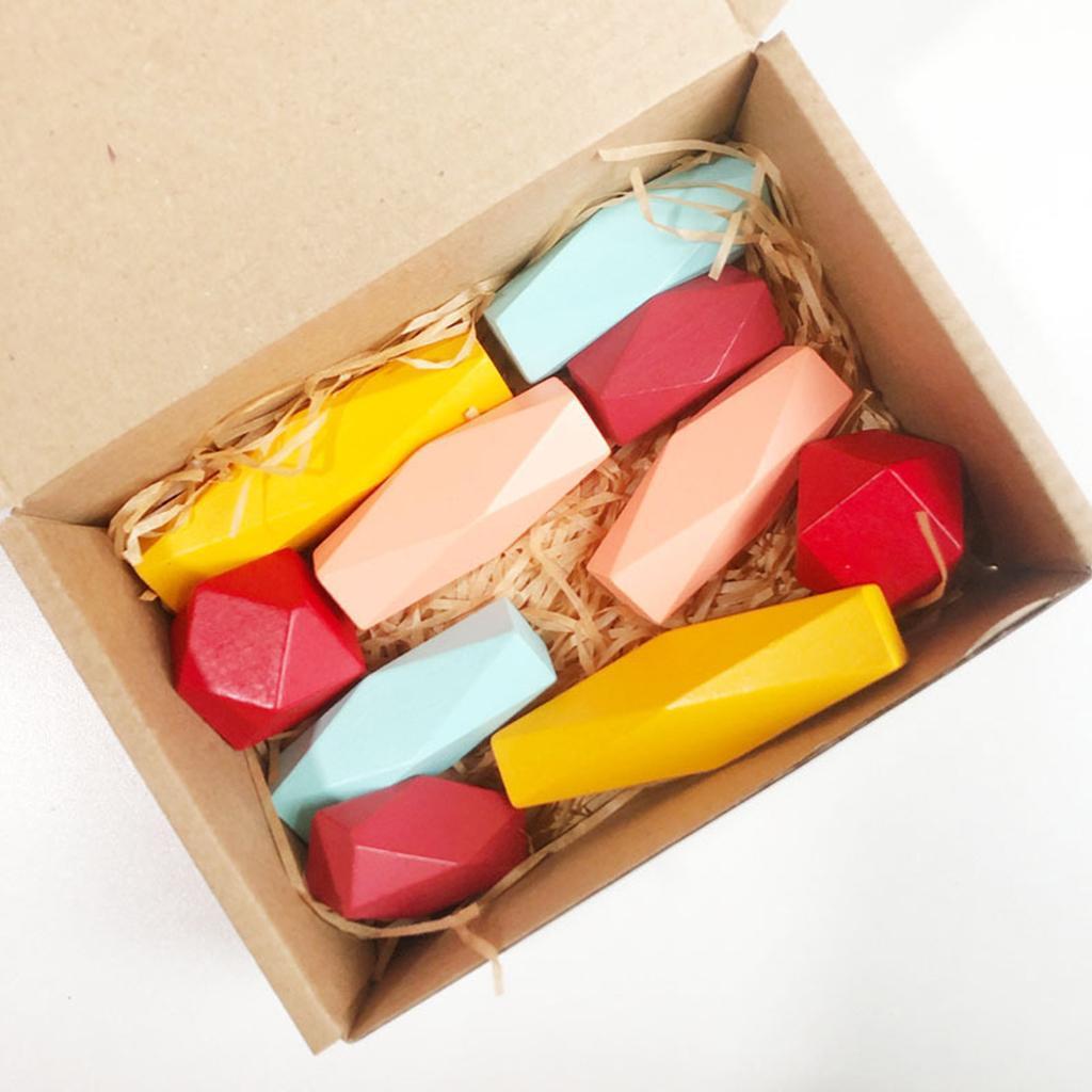 In-legno-Per-Bambini-di-Costruzione-Blocchi-di-Accatastamento-Blocco-di-Legno miniatura 7