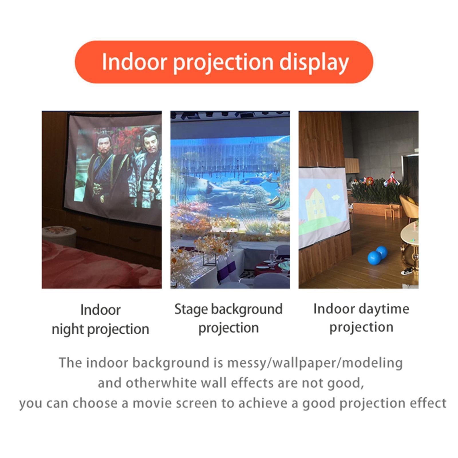 miniatura 13 - Schermo per proiettore portatile HD 16: 9 Proiezione home cinema per esterni