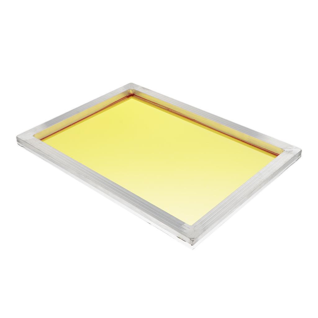 1-lot-Screen-Printing-Frame-Aluminum-Silk-Print-Polyester-Mesh-43-Mesh thumbnail 16