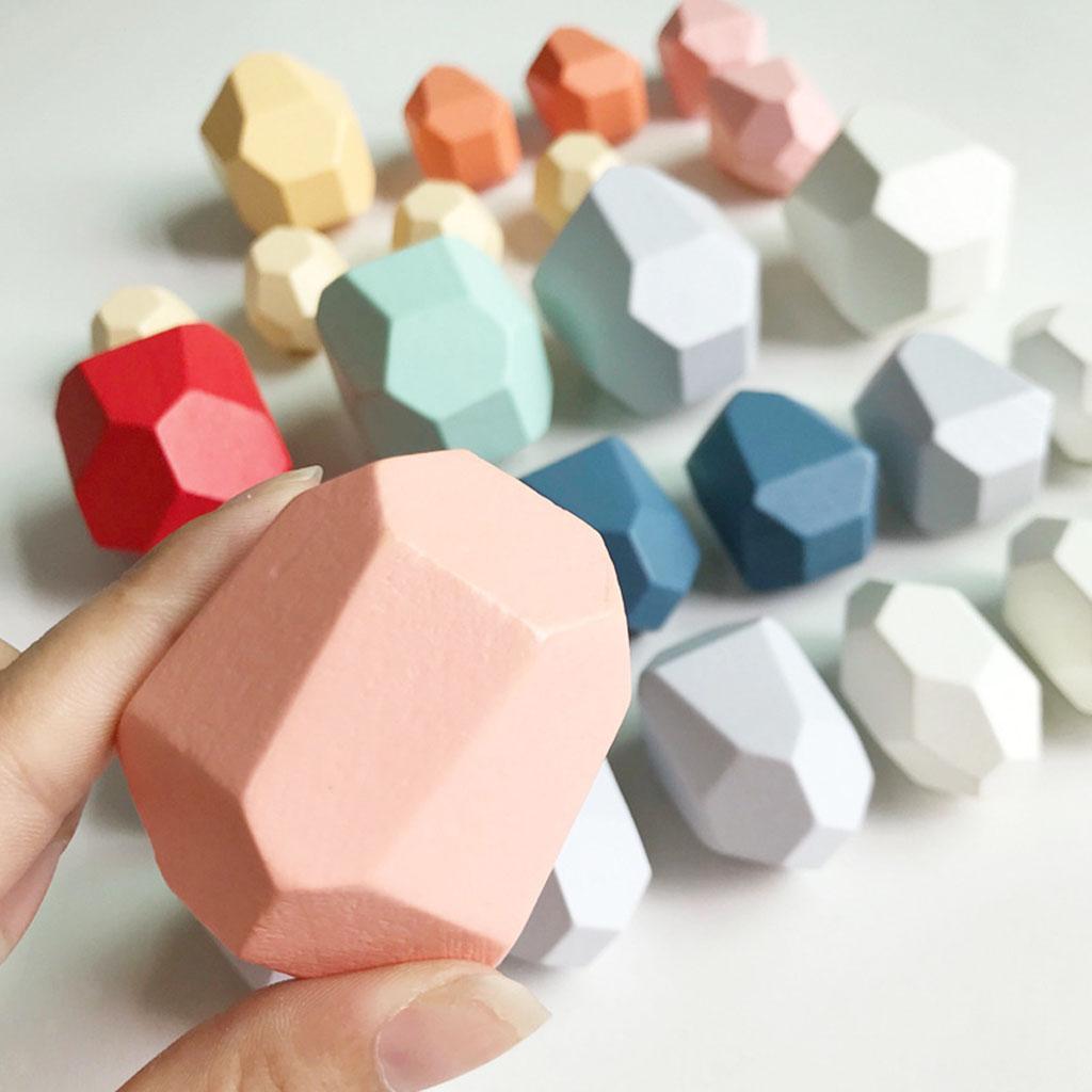In-legno-Per-Bambini-di-Costruzione-Blocchi-di-Accatastamento-Blocco-di-Legno miniatura 23