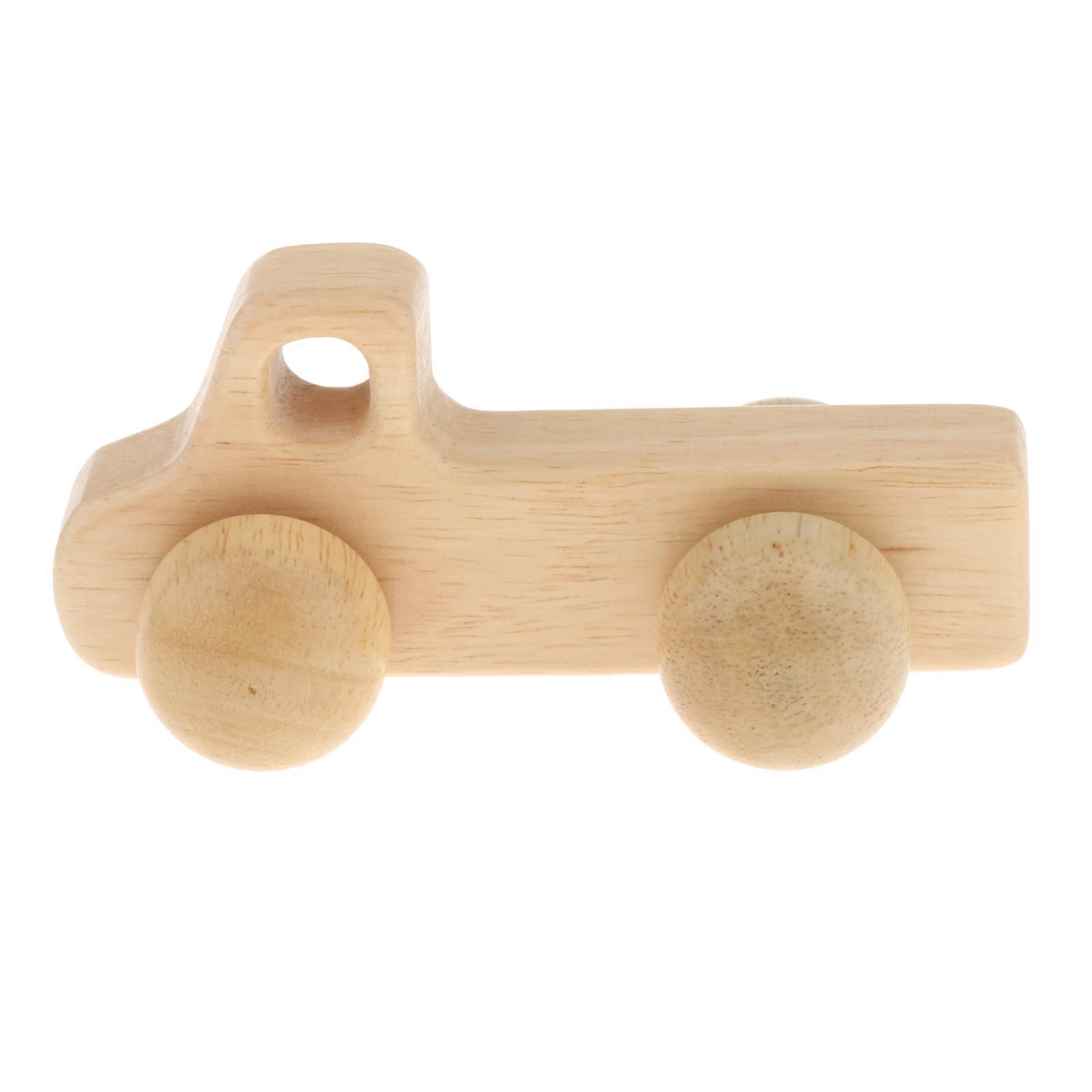 Fatti-a-mano-Giocattoli-di-Legno-Blocchi-di-Auto-Del-Fumetto-di-Attivita miniatura 33
