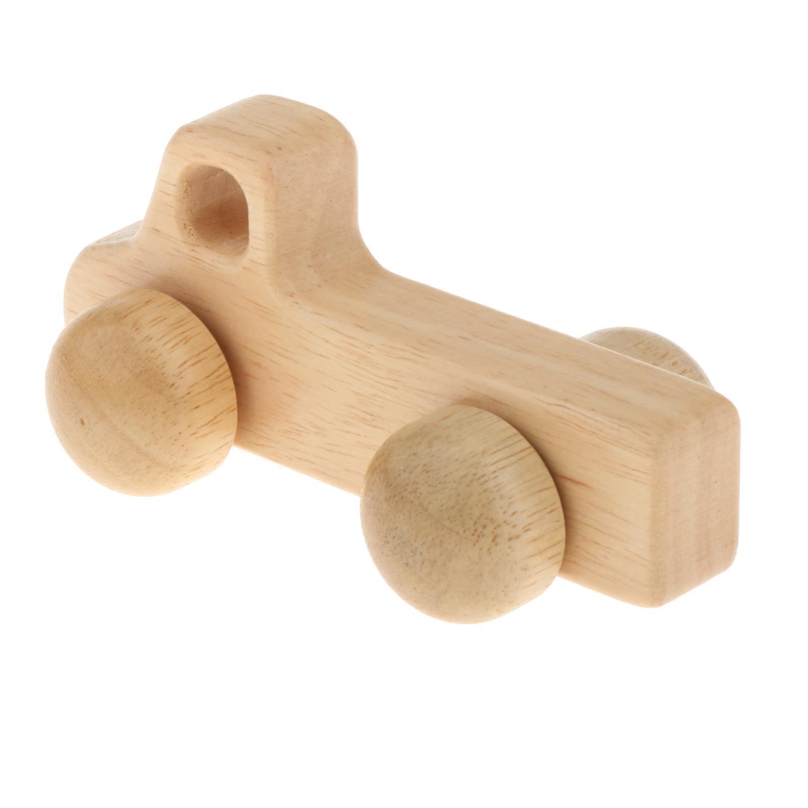 Fatti-a-mano-Giocattoli-di-Legno-Blocchi-di-Auto-Del-Fumetto-di-Attivita miniatura 32