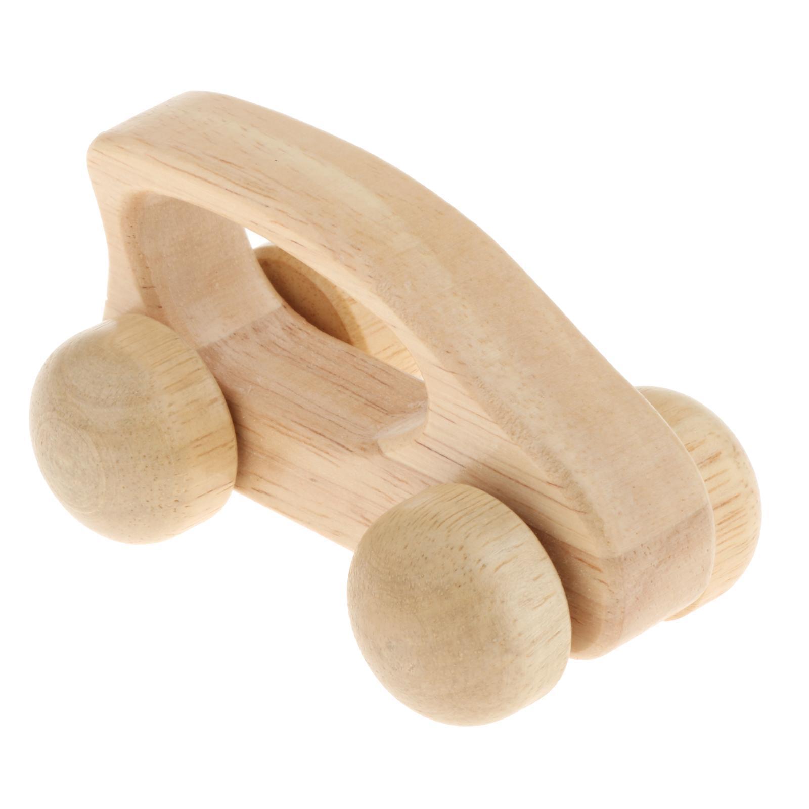 Fatti-a-mano-Giocattoli-di-Legno-Blocchi-di-Auto-Del-Fumetto-di-Attivita miniatura 42
