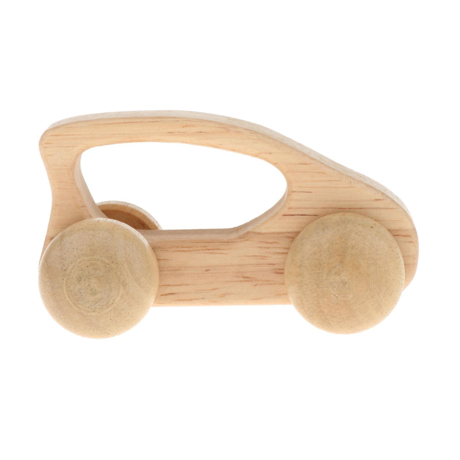 Fatti-a-mano-Giocattoli-di-Legno-Blocchi-di-Auto-Del-Fumetto-di-Attivita miniatura 40