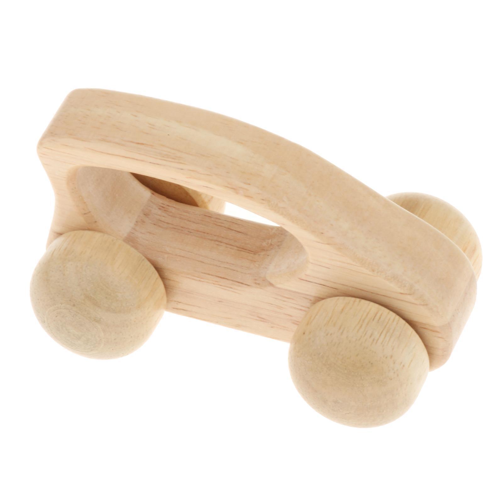 Fatti-a-mano-Giocattoli-di-Legno-Blocchi-di-Auto-Del-Fumetto-di-Attivita miniatura 45