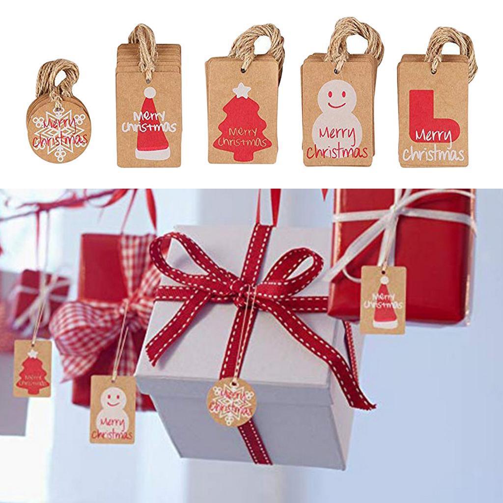 Boîte de 100er Force Papier Prix plaques étiquettes cadeau de Noël