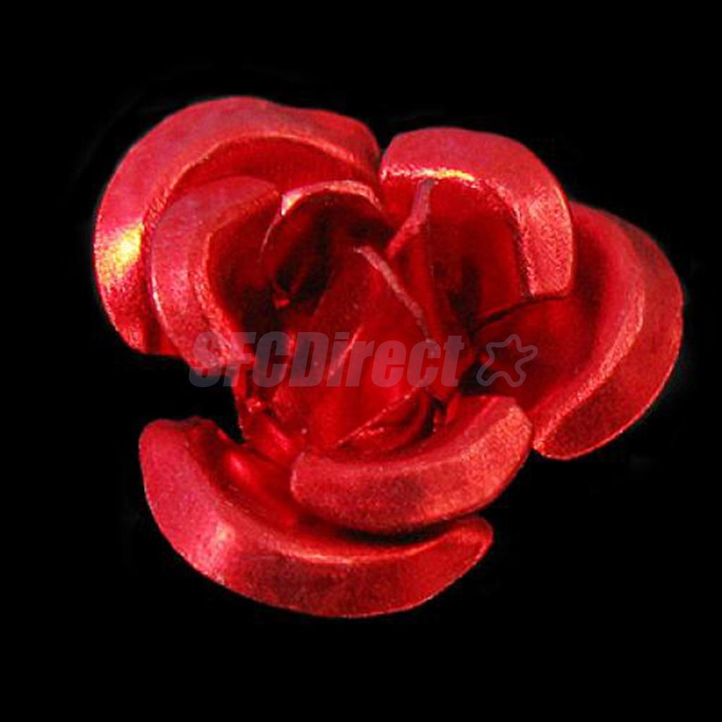 50pcs-Aluminum-Rose-Flower-Tiny-Metal-Beads-8mm-Craft-Jewelry-Making thumbnail 6