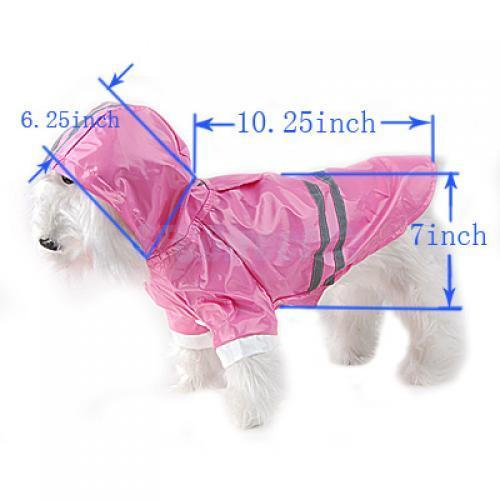 Princess Pink Dog Puppy Rain Coat Jacket Raincoat New