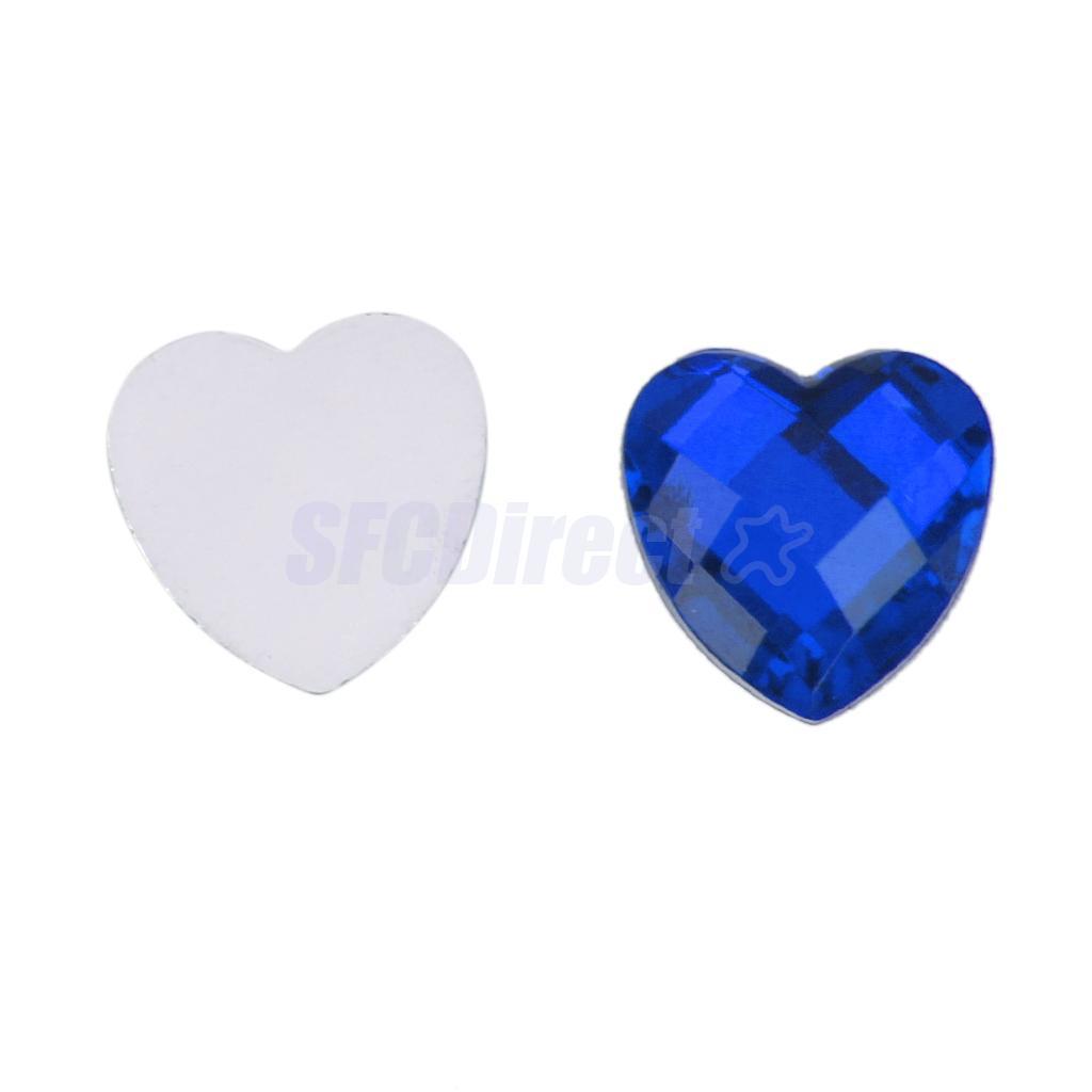 200pcs-12mm-Nail-Art-Heart-Shape-Decors-Flat-Back-Acrylic-Rhinestone thumbnail 3