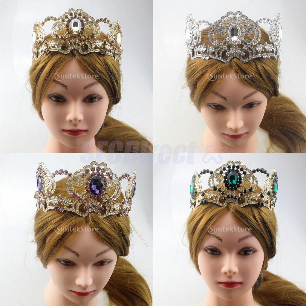 Luxury Bridal Princess Hair Crown Rhinestone Water Drop Tiara ...