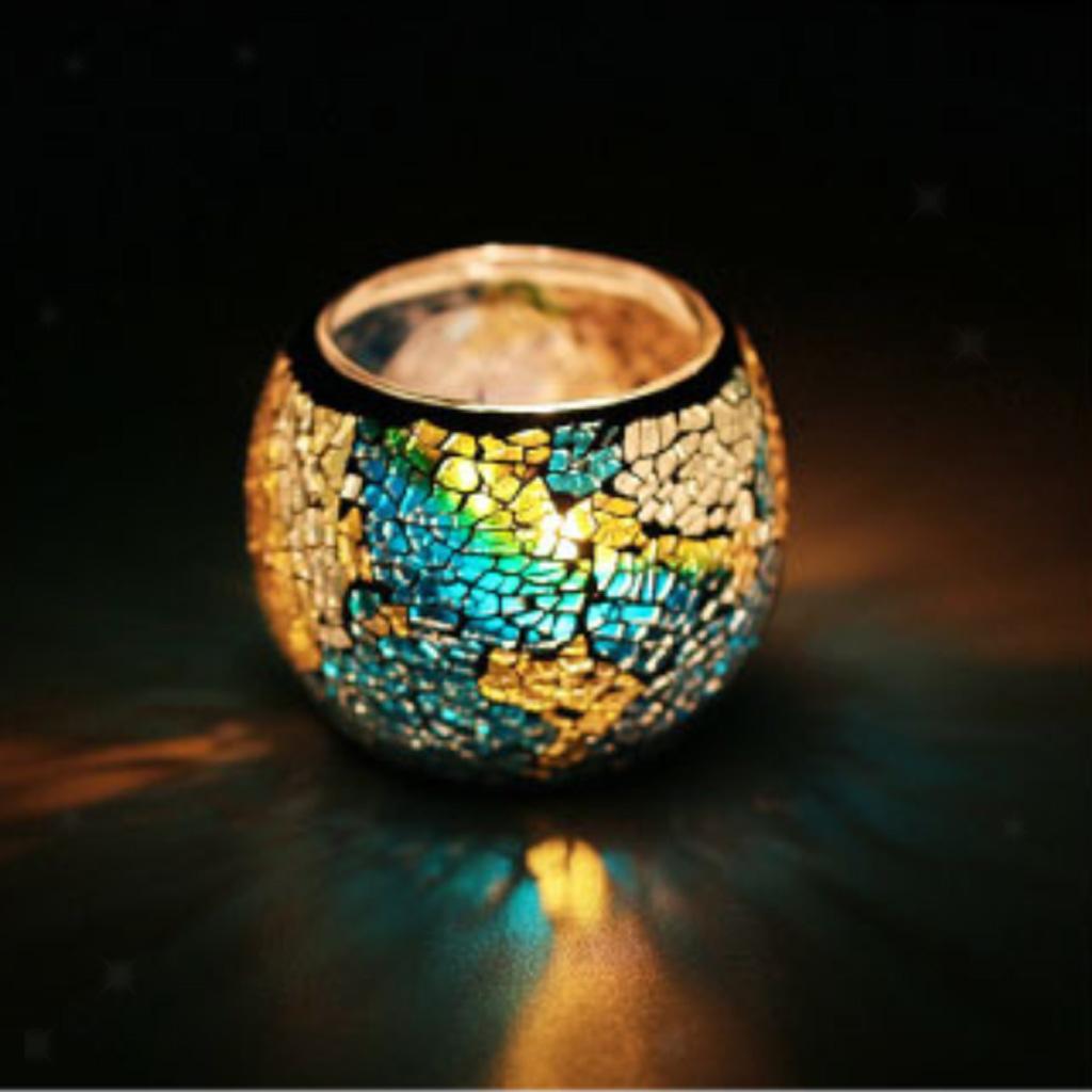 Assorted-Moroccan-Mosaic-Glass-Votive-Candle-Tea-Light-Candelabra-Candlestick thumbnail 16