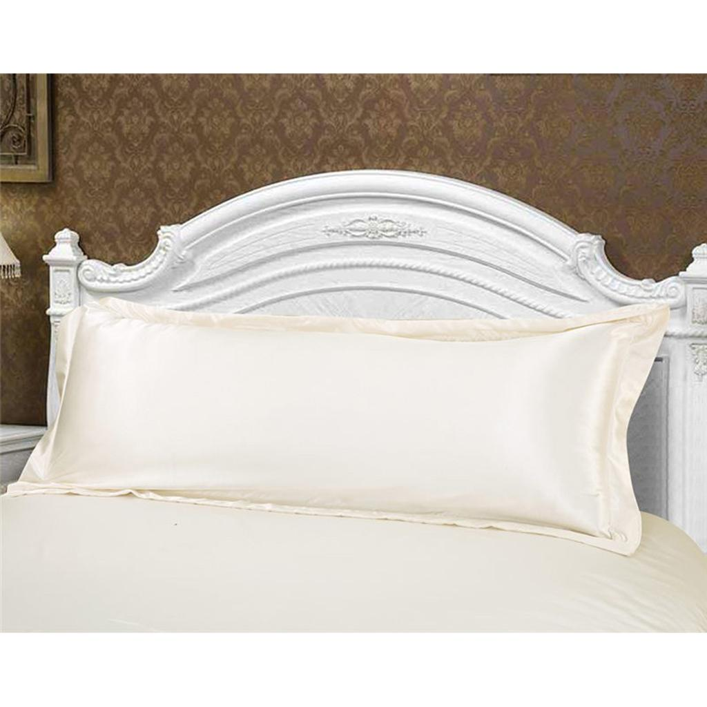thumbnail 7 - Solid Color Luxury Silk Body Full Long Pillow Pillow Case Cover Pillowcase