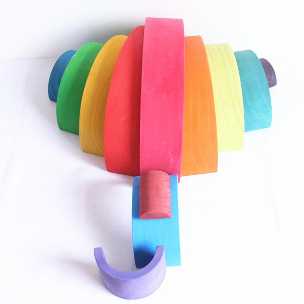 Wooden-Rainbow-Building-Stacking-Blocks-Montessori-Toy-Gift-for-Baby-Toddler thumbnail 13