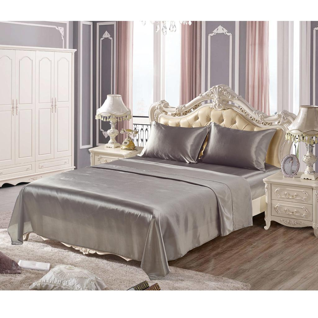 Comfort-Sheet-Set-Twin-Queen-King-Size-Bed-Flat-amp-Fitted-Sheet-amp-Pillowcases thumbnail 18