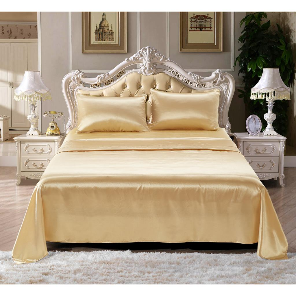 Comfort-Sheet-Set-Twin-Queen-King-Size-Bed-Flat-amp-Fitted-Sheet-amp-Pillowcases thumbnail 25