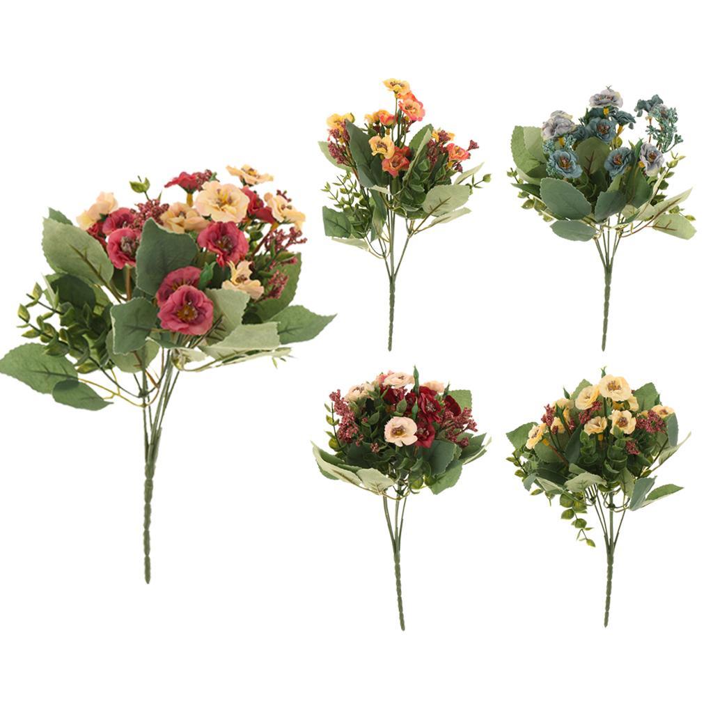 Artificial Fake Rosa Multiflora Silk Flowers Home Garden Decor Rose