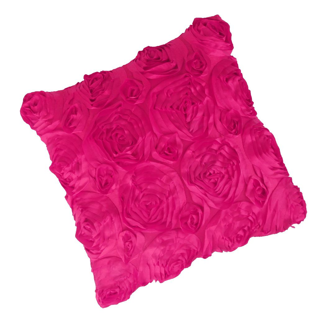 Creative 3D Rose//Leaves Cushion Cover Pillow Case Pillowcase for Sofa Car Decor
