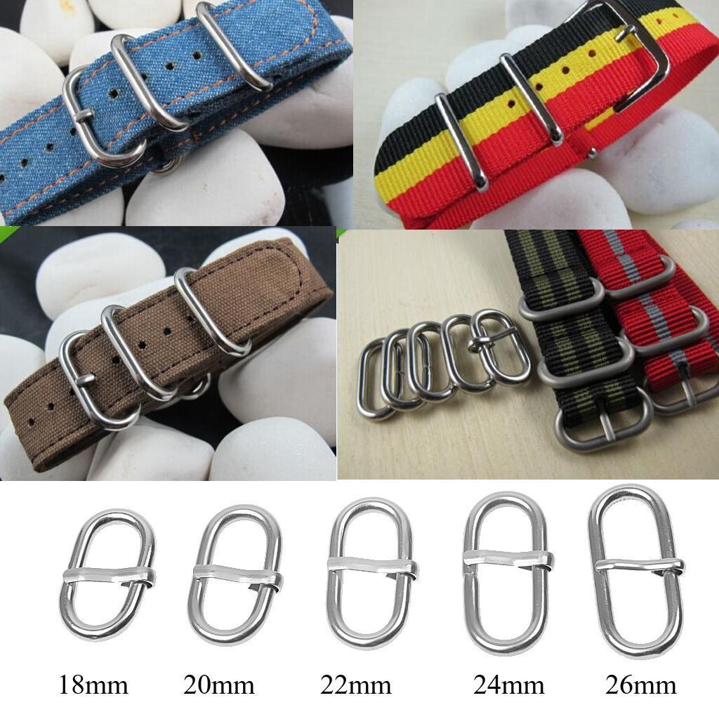 Details About Pack Of 5 Steel Diy Watch Strap Retainer Rings Strap Loop Hoop Holder Buckle