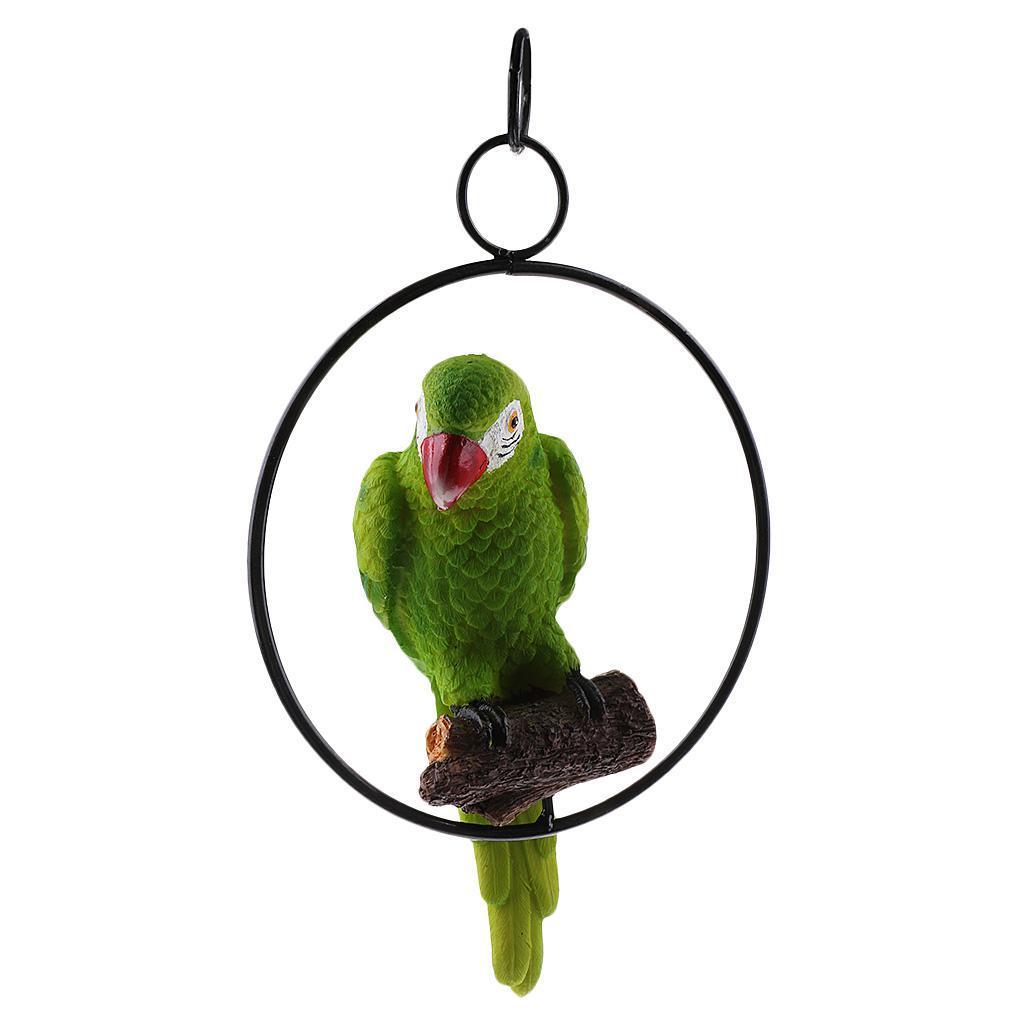 Simulation-Parrot-Bird-Sculpture-Wall-Hanging-Macaw-Resin-Crafts-Handmade thumbnail 16
