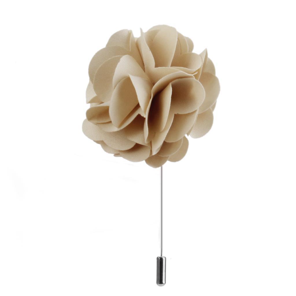 Handmade-Fabric-Lapel-Flower-Brooch-Boutonniere-Tuxedo-Stick-Pin-Wedding-Prom thumbnail 6
