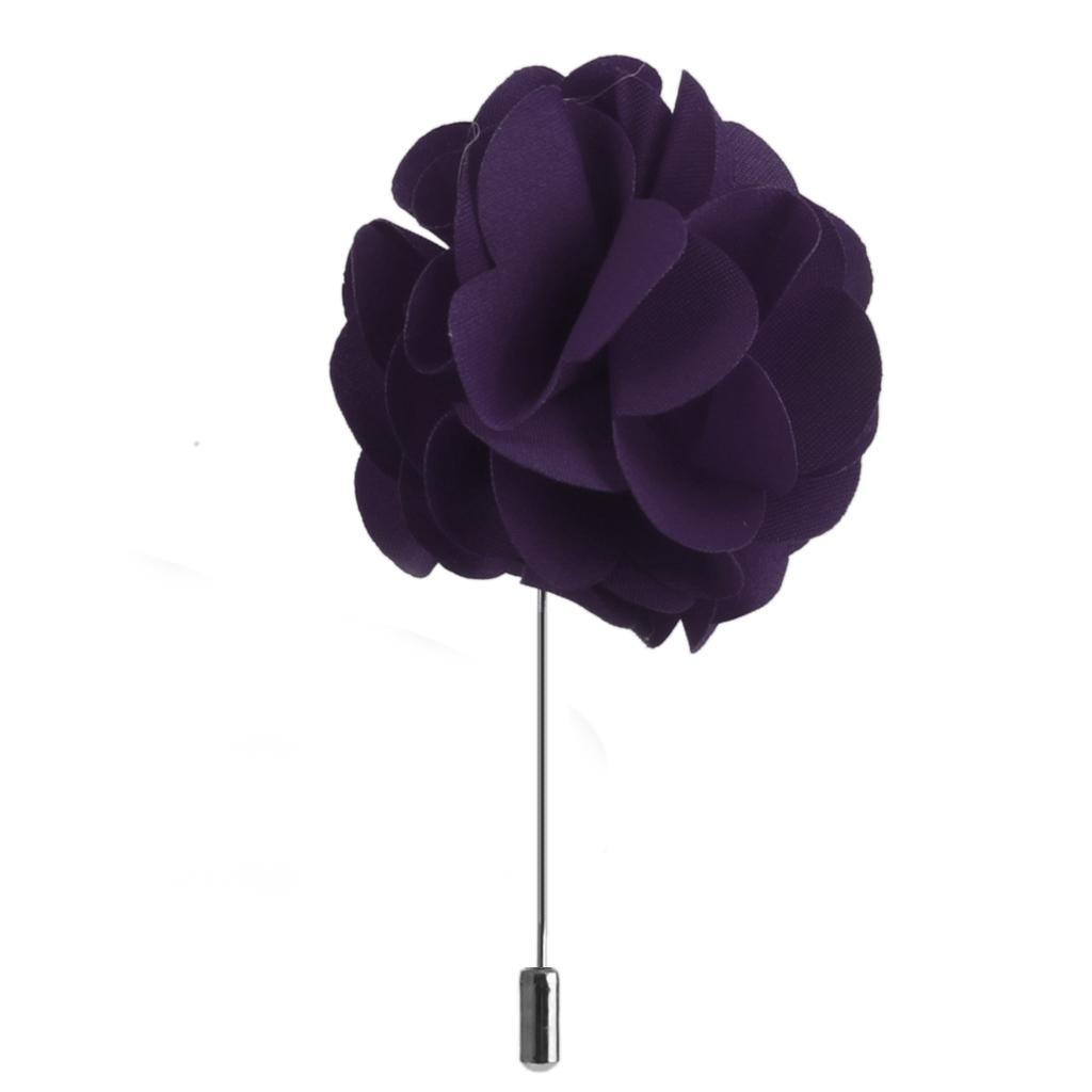 Handmade-Fabric-Lapel-Flower-Brooch-Boutonniere-Tuxedo-Stick-Pin-Wedding-Prom thumbnail 3