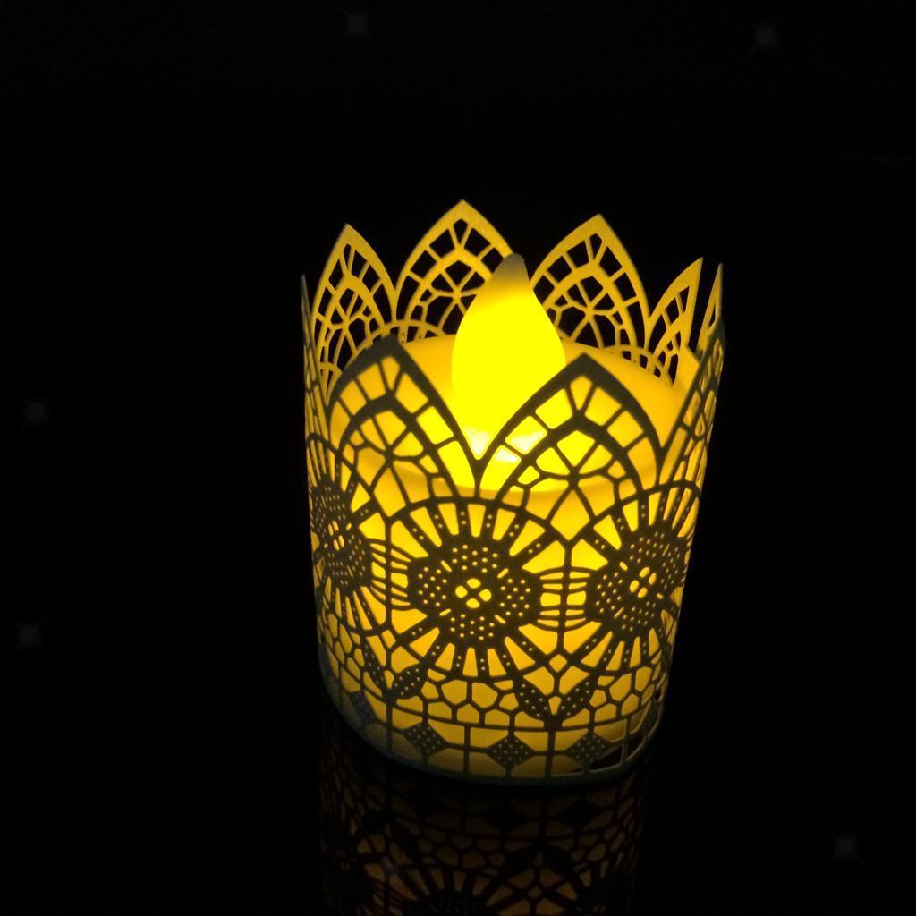 6Pcs-Wedding-Party-Tea-Light-Holder-Paper-Lanterns-Votive-Candle-Holders thumbnail 5
