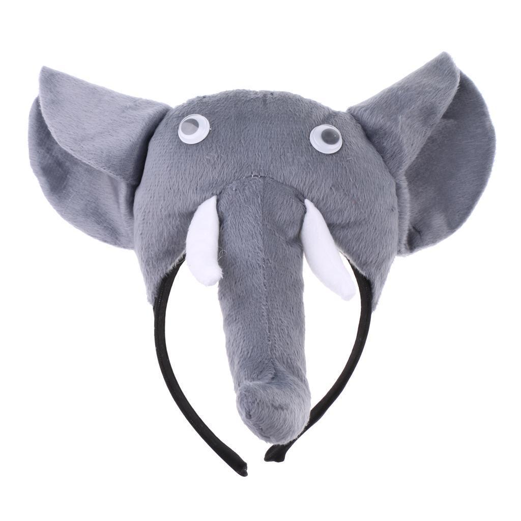 3pcs//set Kids Animal Bee Piggy Snake Horse Costume Kit Headband Bowtie Tail Set