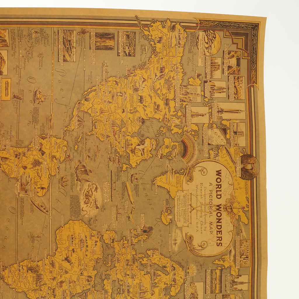 Details about Globe Continent Atlas World Map Earth Geography Retro Old  School Vintage Map