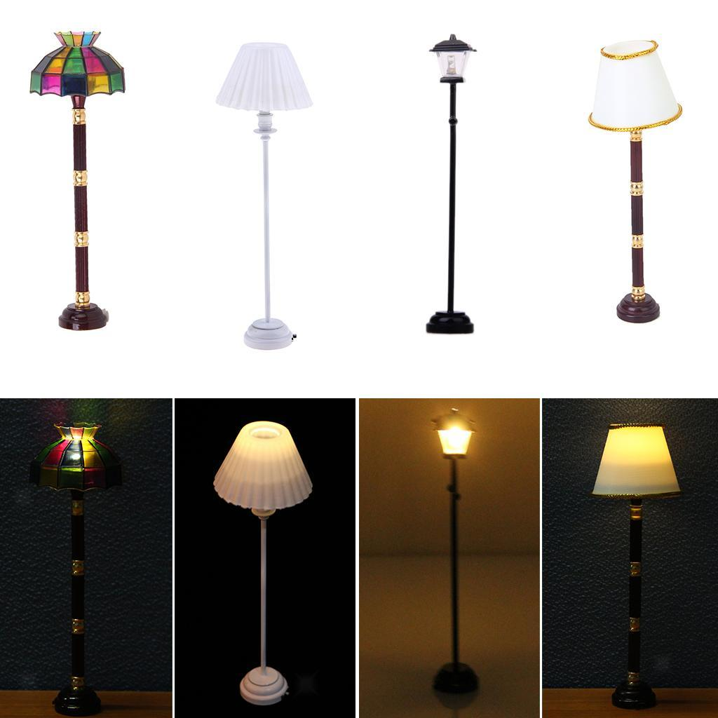 Dollhouse Miniature LED Floor Lamp Light Model Operated Kids Low Price 2019 SH