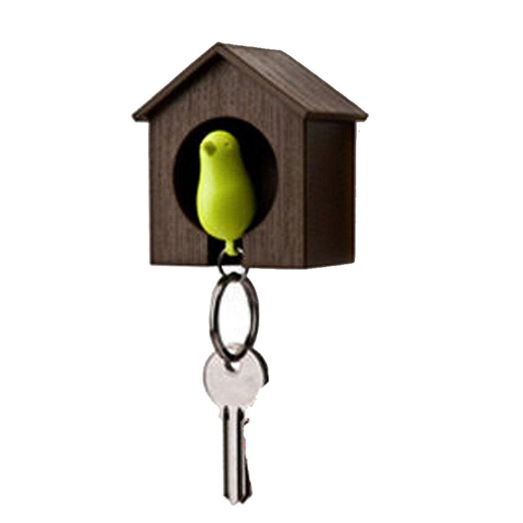 Novelty-Single-Duo-Sparrow-Bird-Nest-KeyChain-Key-Ring-Holder-Hook-Whistle-Ring thumbnail 8